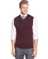 Tasso Elba Big And Tall Solid Sweater Vest Only At Macy's Port Twist
