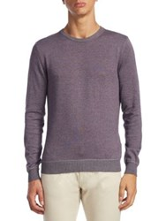 Saks Fifth Avenue Collection Knitted Sweater Denim Grape