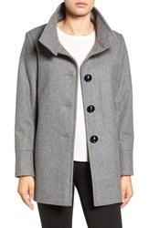 Larry Levine Women's Wool Blend Swing Coat Grey