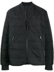 Y 3 Quilted Bomber Jacket Black