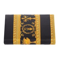 Versace Home Barocco And Robe Duvet Cover Super King Gold Black