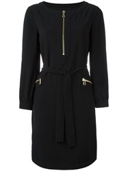 Boutique Moschino Zipped Belted Dress Black