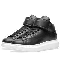 Alexander Mcqueen Wedge Sole Strap High Sneaker Black