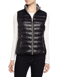 Marc New York Marc Ny Performance Reversible Hooded Puffer Vest Black Blurry