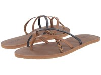 Volcom New School 2 Cheetah Women's Sandals Animal Print
