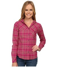 Mountain Hardwear Tahoma Hooded Flannel Long Sleeve Shirt Haute Pink Women's Long Sleeve Button Up