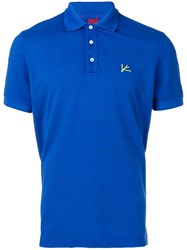 Isaia Logo Polo Shirt Blue