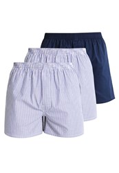 Zalando Essentials 3 Pack Boxer Shorts White Blue