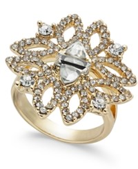 Inc International Concepts I.N.C. Gold Tone Crystal Statement Ring Created For Macy's