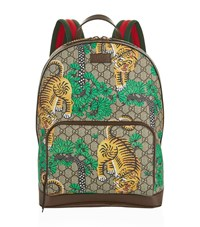 Gucci Leather Snake Backpack Unisex Multi