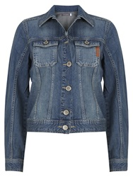 Mint Velvet Western Denim Jacket Blue