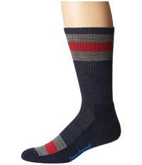 Smartwool Striped Hike Light Crew Deep Navy Crew Cut Socks Shoes