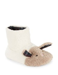 Kensie Faux Fur Rabbit Slippers Ivory