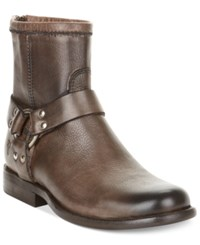 Frye Women's Phillip Harness Short Booties Women's Shoes Dark Brown
