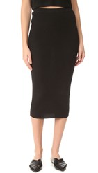 Theperfext Cashmere Skirt Black