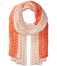 San Diego Hat Company Bss1697 Woven All Over Anchor Print Coral Scarves