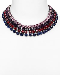 Aqua Isobel Statement Necklace 16 Purple Multi