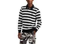 Ovadia And Sons Striped Cotton Rugby Shirt Black