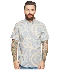 Vissla Da Bush Short Sleeve Printed Woven Top Phantom Clothing Gray