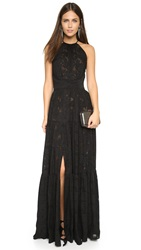 L'agence Penelope Tiered Maxi Dress Black