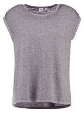 Gap Basic Tshirt Charcoal Grey Mottled Grey