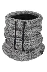 Men's Bickley Mitchell Neck Warmer Grey Dark Grey Twist