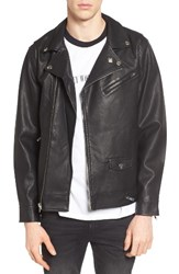 Obey Men's Bastards Faux Leather Biker Jacket