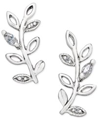 Giani Bernini Crystal Vine Ear Climber Earrings In Sterling Silver Only At Macy's