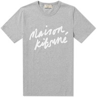 Maison Kitsune Handwriting Tee Grey