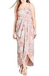 City Chic Plus Size Women's Whimsical High Low Maxi Dress Soft Whimsy