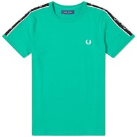 Fred Perry Authentic Taped Shoulder Tee Green