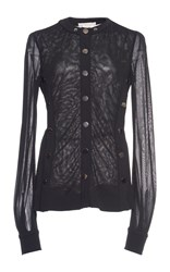Antonio Berardi Snap Front Semi Sheer Shirt Black