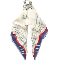 Gucci Printed Modal And Silk Blend Scarf White