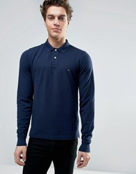 Tommy Hilfiger Slim Fit Long Sleeve Polo Navy