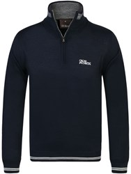Oscar Jacobson Brock Tour Half Zip Jumper Twilight Blue