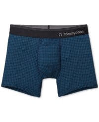 Tommy John Men's Second Skin Hawthorne Printed Trunks Nautical Weave