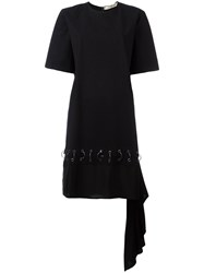 Damir Doma Eyelet And Loop T Shirt Dress Black