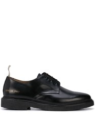 Common Projects Contrast Pull Tab Oxford Shoes Black