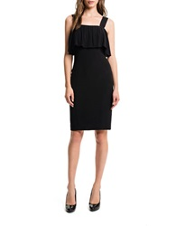 1 State Ruffled Slim Dress Rich Black