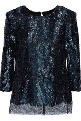 Haney Woman Anja Sequined Lace Top Multicolor