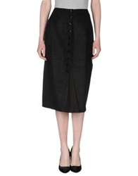 Made For Loving 3 4 Length Skirts Black