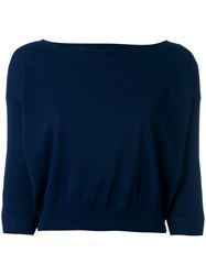 Roberto Collina Cropped Cardigan Women Cotton L Blue