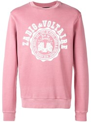 Zadig And Voltaire Printed Logo Sweatshirt Pink