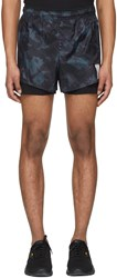 Satisfy Black And Green Tie Dye Short Distance 3 Shorts