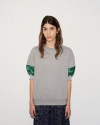 Kolor Cuff Sweatshirt Top Gray