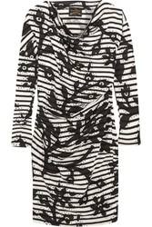 Vivienne Westwood Anglomania Draped Printed Cotton Jersey Dress Black