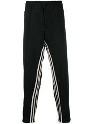 Y 3 Striped Track Trousers Black