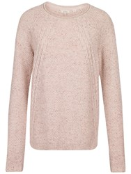 Fat Face Leona Cable Jumper Cotton Seed