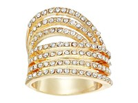 Guess Look Of Six Dainty Pave Bands Ring Gold Crystal Ring