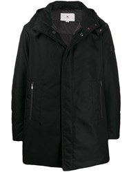 Peuterey Concealed Placket Coat Black